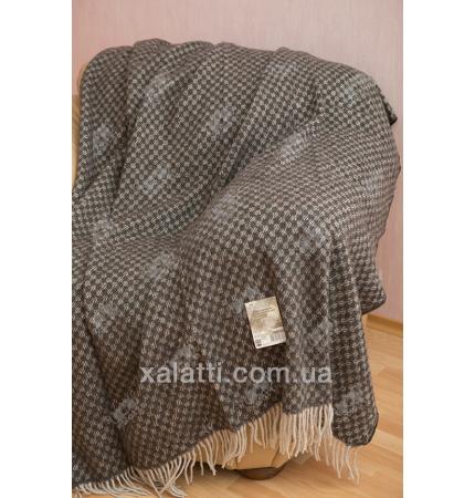 Плед 140*200 100% шерсть Ярослав букле серый