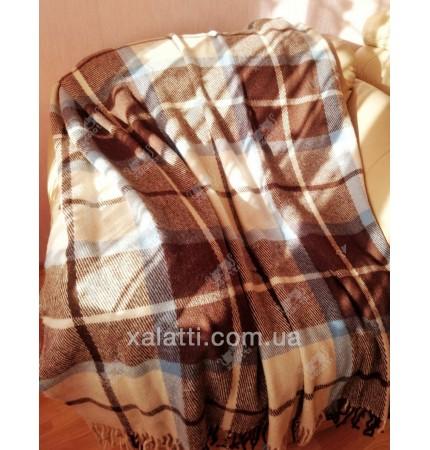 Плед 140*200 полушерсть Ярослав коричневый