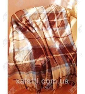 Плед 140*200 полушерсть Ярослав коричневый 1