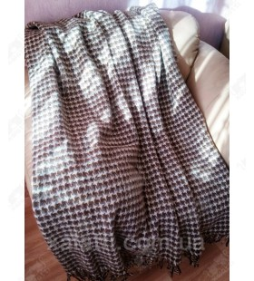 Плед 140*200 новозеландская шерсть Ярослав букле коричневый