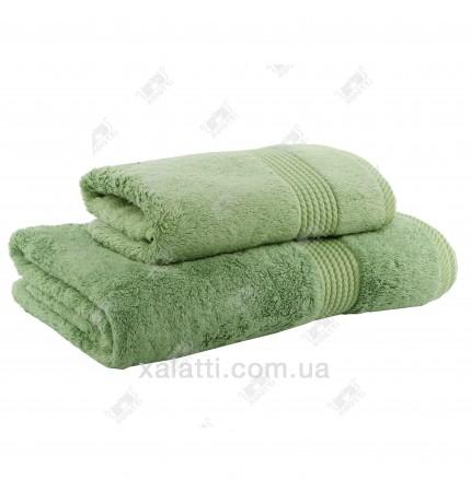 Полотенце махровое бамбук 50*100 Amadeus Maison D'or зеленое