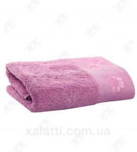 Полотенце махровое 50*100 хлопок Acelya Eke сиреневое