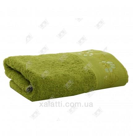 Полотенце махровое 50*100 хлопок Acelya Eke салатовое