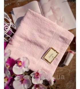Полотенце махровое баня 70*140 розовое Lorenzzo хлопок