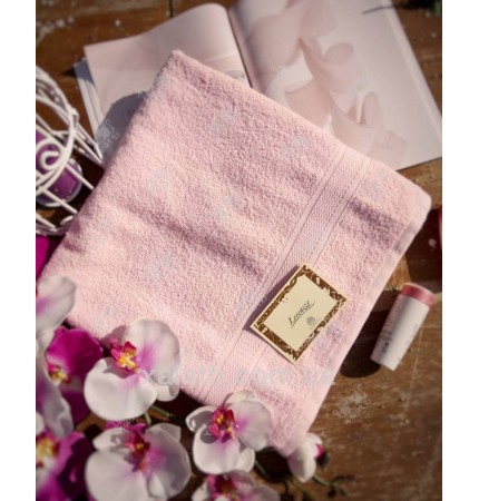 Полотенце махровое 70*140 розовое Lorenzzo