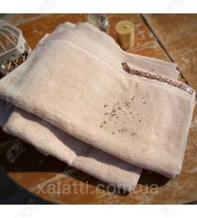 Полотенце махровое 50*100 микрокотон Artemis Maison D'or песочное