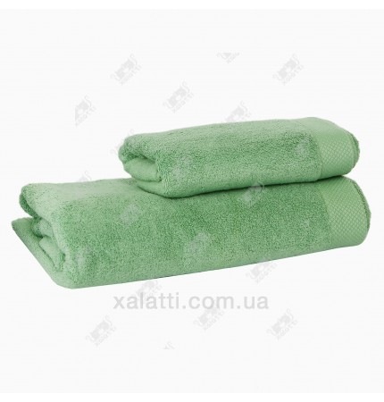 Полотенце махровое 50*100 микрокотон Artemis Maison D'or зеленое