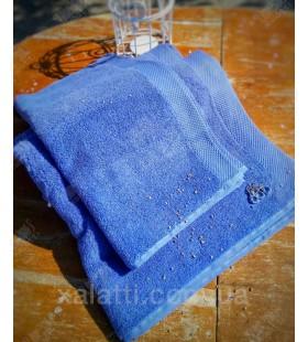 Полотенце махровое  50*100 микрокотон Artemis Maison D'or синее