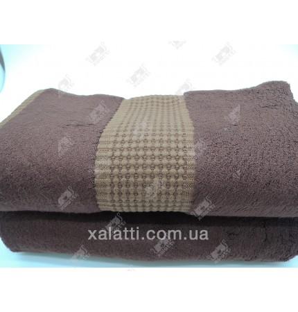 Полотенце махровое 50*100 бамбук Mevsim Eke коричневое