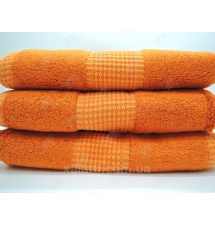 Полотенце махровое 50*100 бамбук Mevsim Eke оранжевое