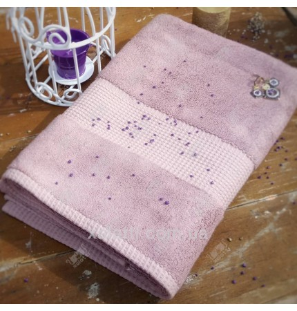 Полотенце махровое 50*100 бамбук Mevsim Eke mistyrose
