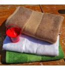 Полотенце махровое 50*100 бамбук Mevsim Eke white