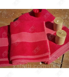 Полотенце махровое 50*100 бамбук Mevsim Eke red