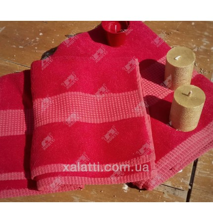 Полотенце махровое 70*140 бамбук Mevsim Eke red
