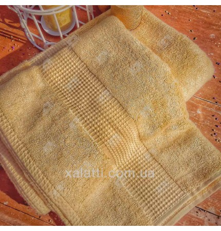 Полотенце махровое 70*140 бамбук Mevsim Eke lemon