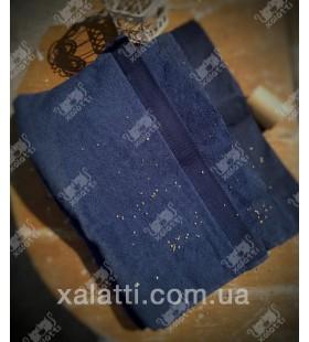 Полотенце махровое микрокотон 85*150 Micro Softcotton синее