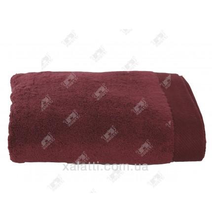 Полотенце махровое микрокотон 85*150 Micro Softcotton бордо