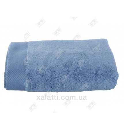 Полотенце махровое микрокотон 85*150 Micro Softcotton голубое