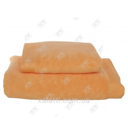 Полотенце махровое микрокотон 85*150 Micro Softcotton оранжевое