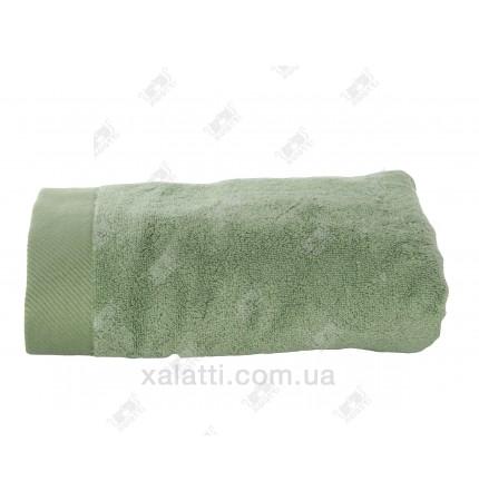 Полотенце махровое микрокотон 85*150 Micro Softcotton зеленое