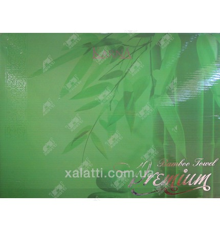 Набор полотенец махровых бамбук Karna оливкового