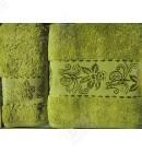 набор полотенец махровых бамбук Karna салатовый