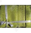 Набор полотенец махровых бамбук Karna зеленый