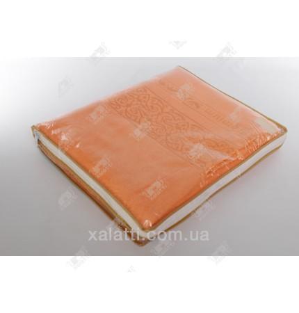 Простыня махровая 140*200 бамбук Pupilla оранжевая