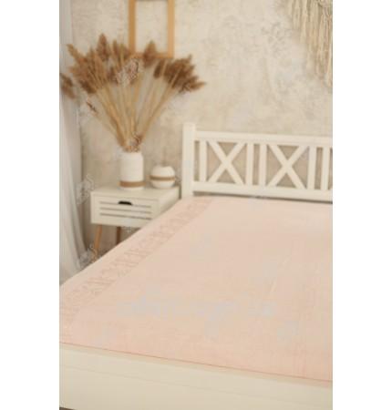 Простыня махровая 160*200 бамбук Pupilla розовая
