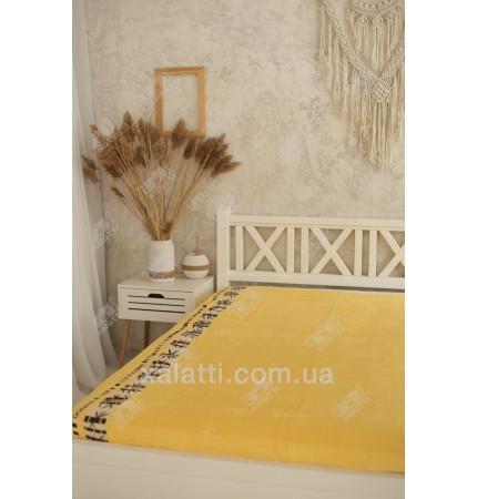 Простыня махровая 160*200 бамбук Cestepe желтая