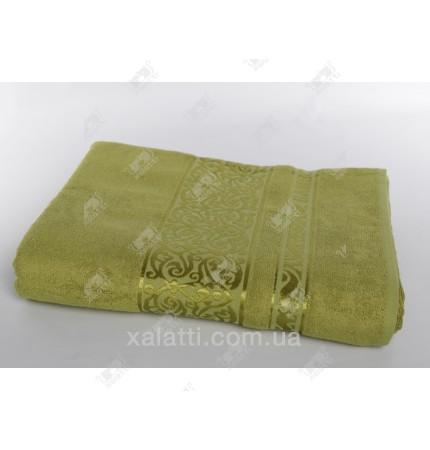 Простыня махровая 160*200 бамбук Pupilla зеленая