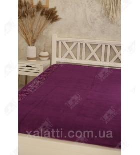 Простыня махровая 160*200 бамбук Pupilla фиолетовая