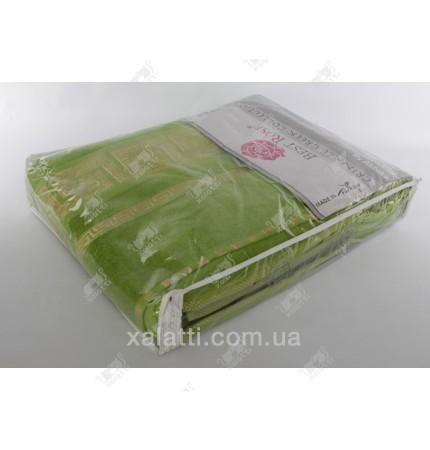 Простыня махровая 200*220 хлопок салатовая