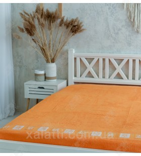 Простыня махровая 200*220 хлопок оранжевая