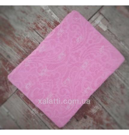 Махровая простыня 200*220 хлопок Karna розовый
