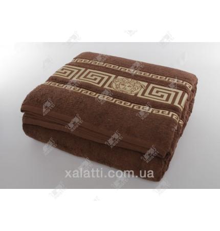 Простыня махровая 200*220 хлопок шоколад