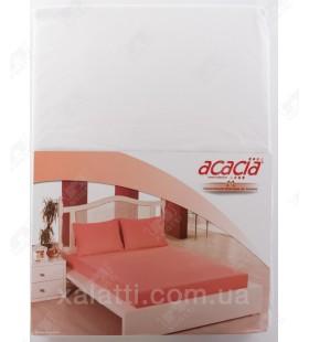Трикотажная простыня 160*200 на резинке +наволочки 70*70 Acacia белая