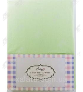 Трикотажная простыня 160*200 на резинке + наволочки 70*70 Aceliya зеленый