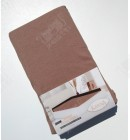 Трикотажная простыня 180*200 на резинке Karna коричневая