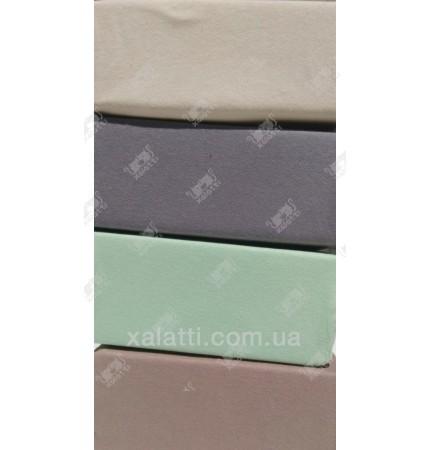 Трикотажная простыня 180*200 на резинке Karna зеленая