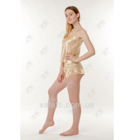 Шелковая пижама шортики 44-46 Janny золото