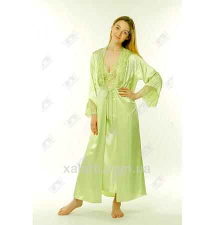 Шелковый женский набор Janny зеленый к.3004