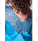 Шелковая сорочка 54-58 Janni k.4231 бирюза