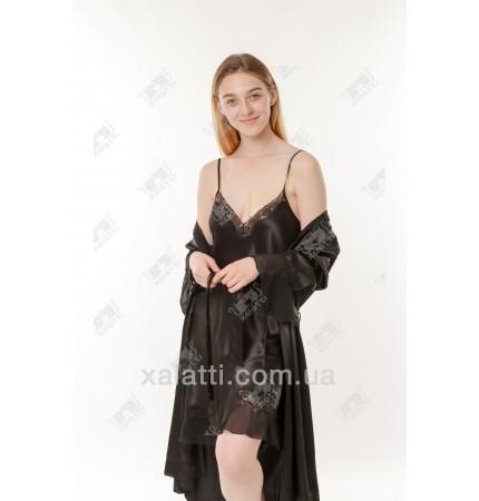 Шелковый женский набор Janny черный к,5004