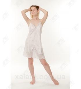 Женская ночная шелк-жаккард 44-48 Janni белая