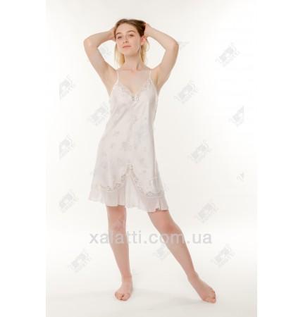 Женская ночная шелк-жаккард 46 Janni белая
