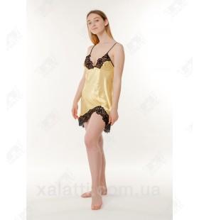 Шелковая женская сорочка Jasmin желтая