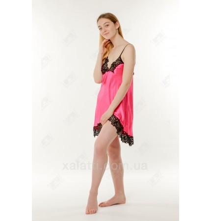 Шелковая женская сорочка 44-48 Jasmin алая