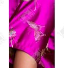 """Шелковый женский халат """"Бабочка"""" малиновый"""