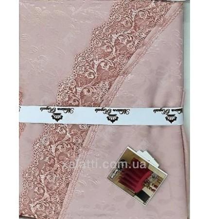 Скатерть круглая Q 160 синтетика Maison Royal розовая